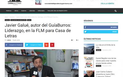 Javier Galué, autor del GuíaBurros: Liderazgo en Casa de Letras